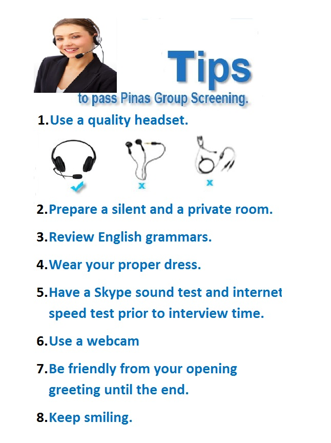 Tips to pass Pinas Academy Screening.