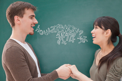 Many foreign students who want to learn English