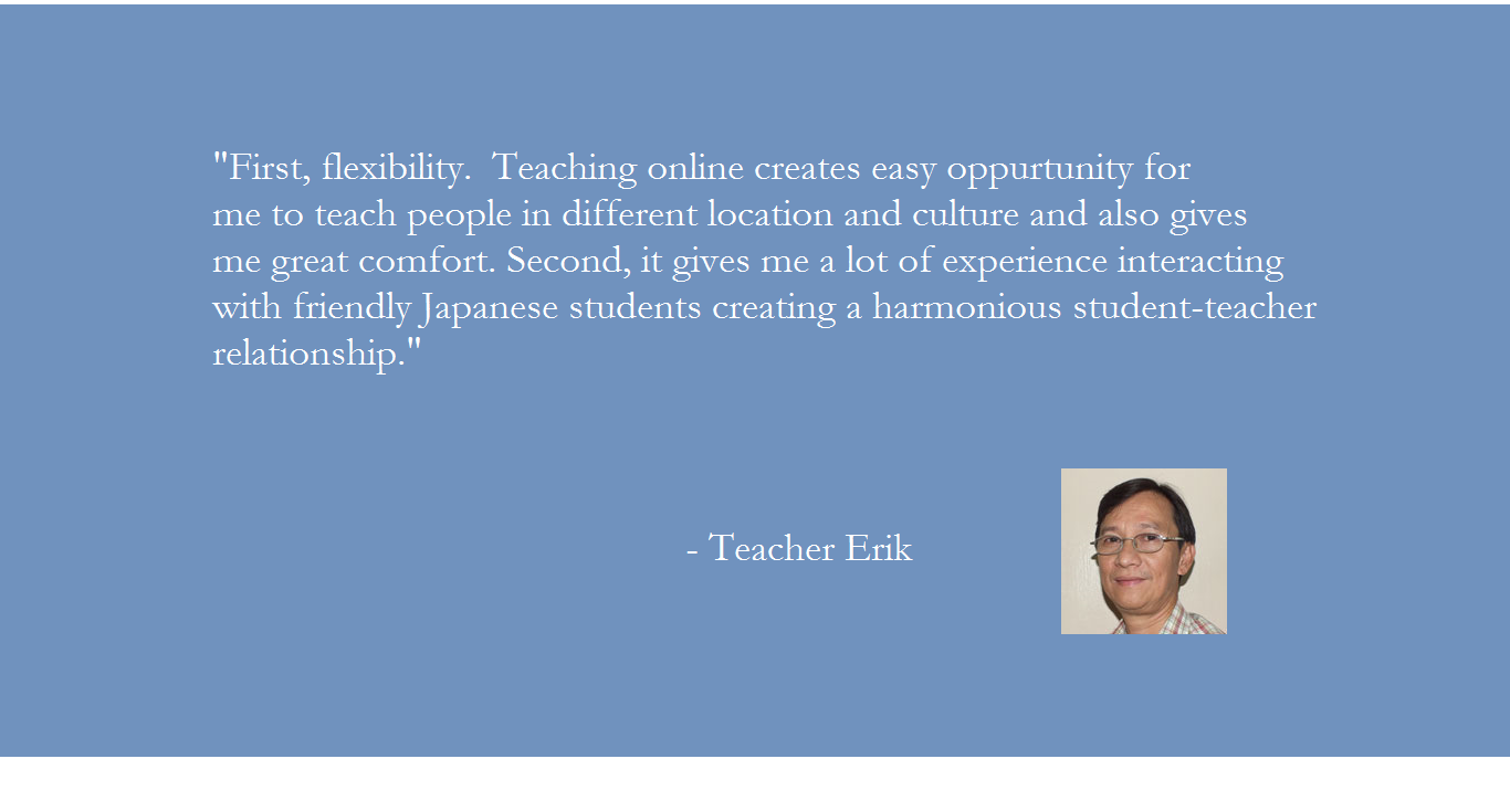 Why choose Pinas Group? Teacher Erik's message