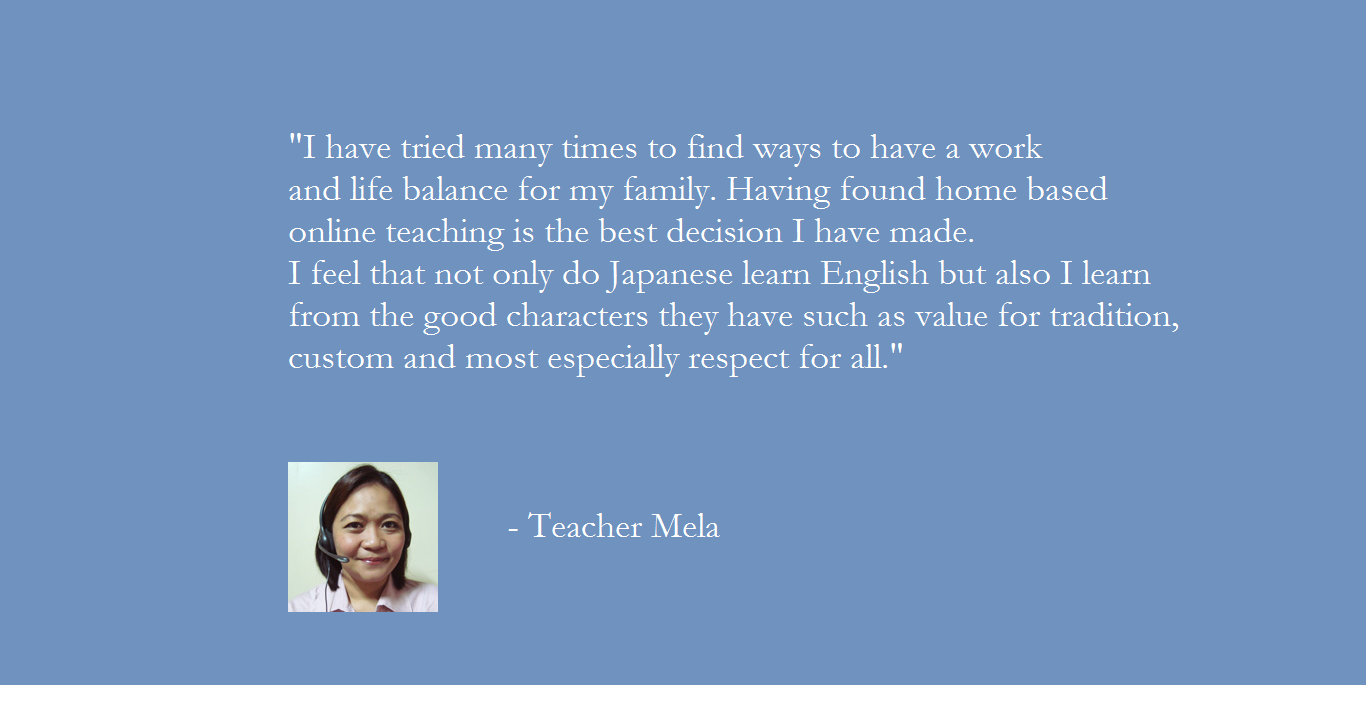 Why choose Pinas Group? Teacher Mela's message