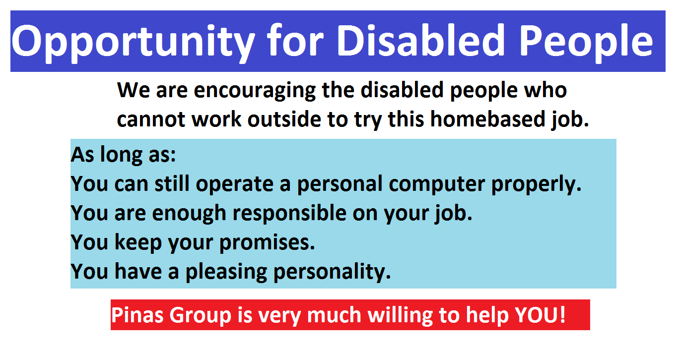 A good Opportunity to Disabled People