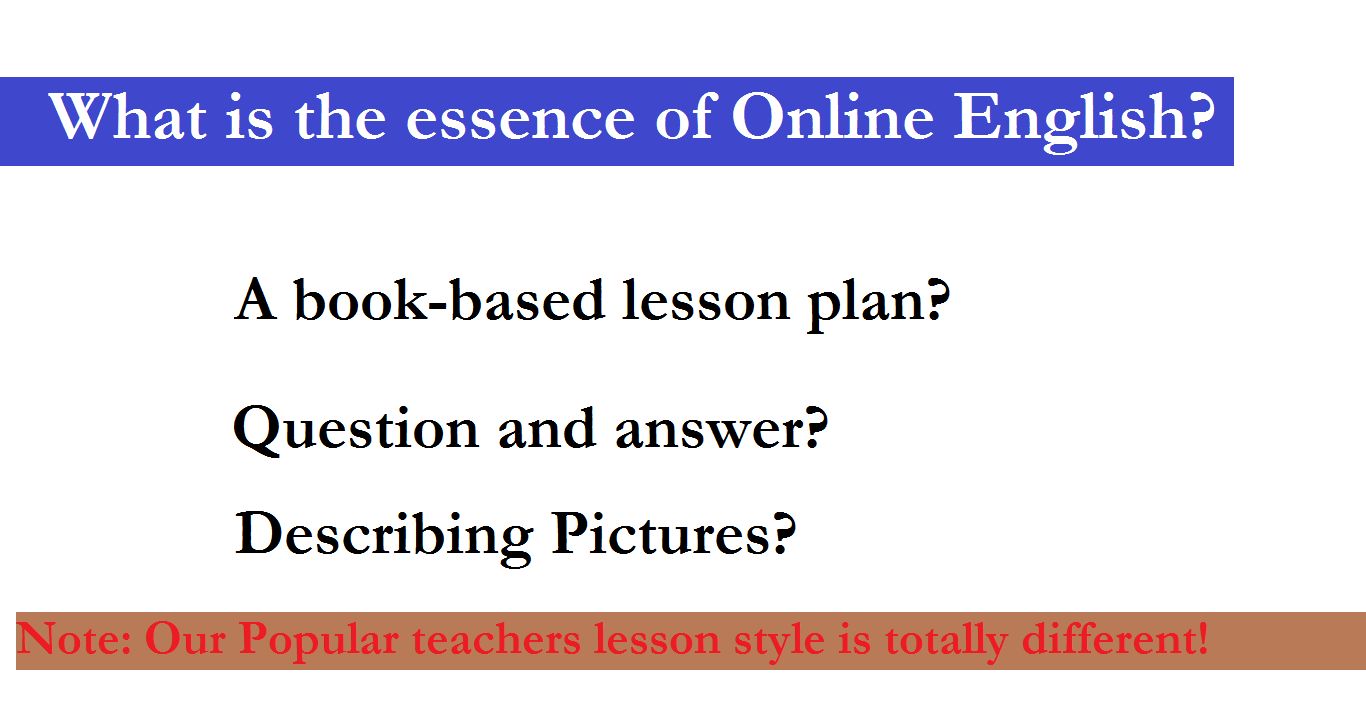 Essence of Online English Lesson