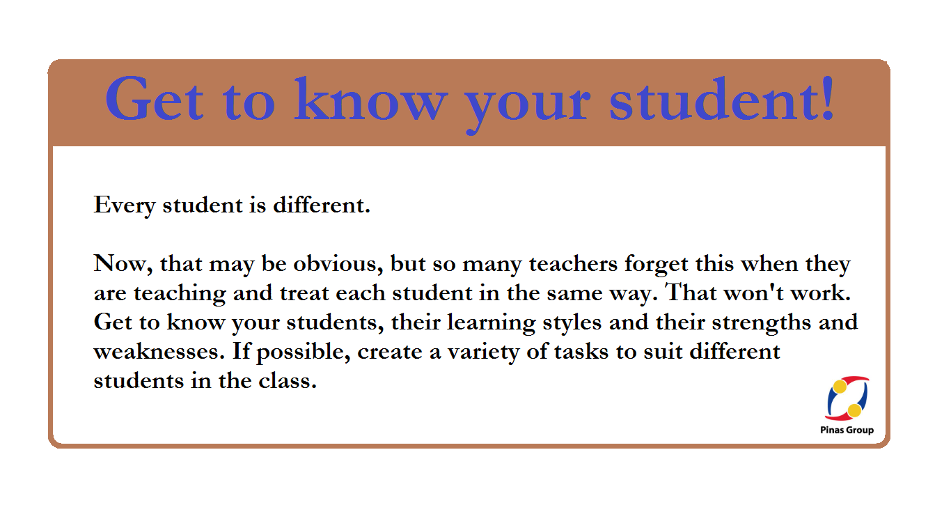 Get to know your student!