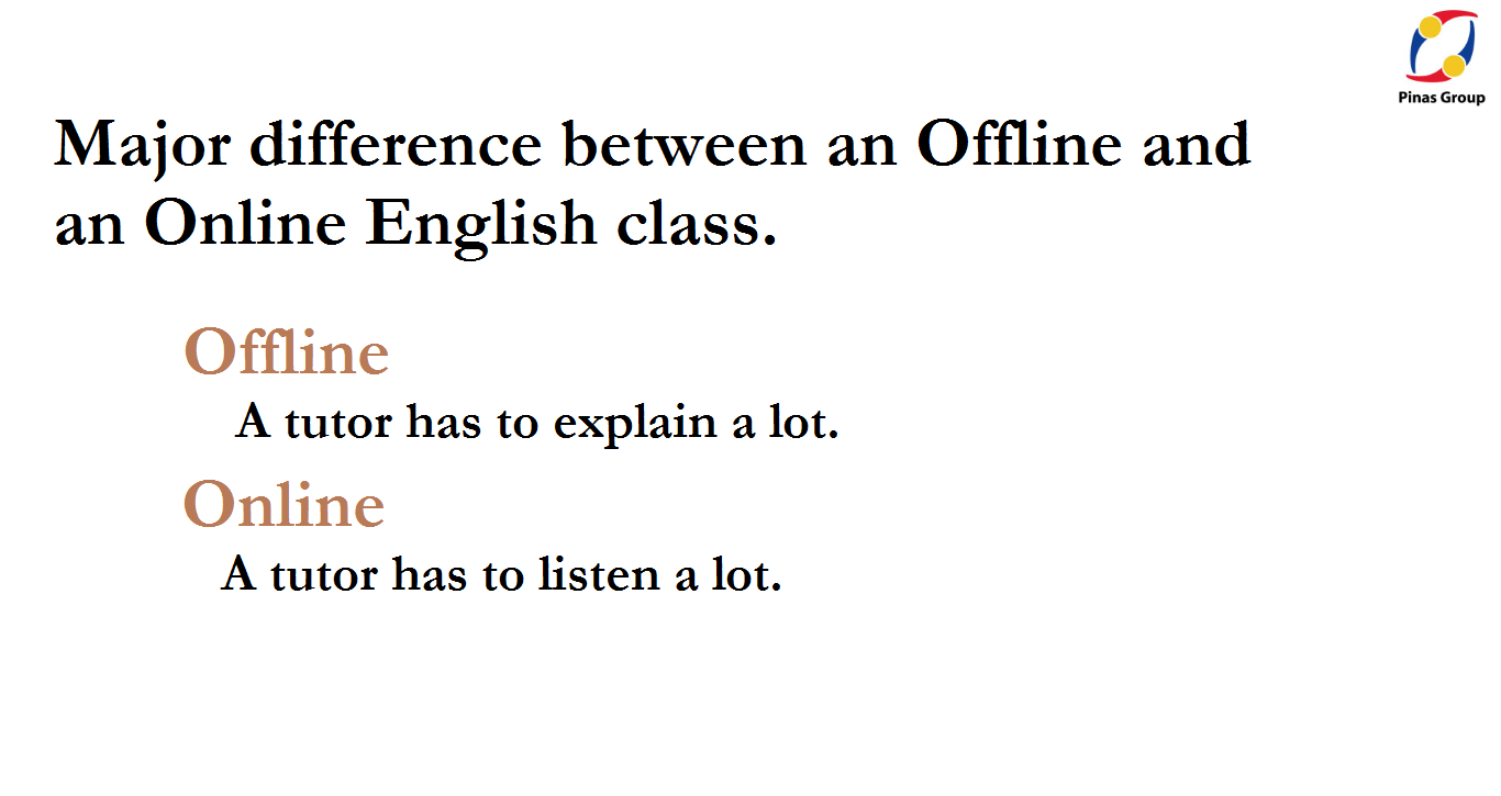 Difference between Offline and Online English Class