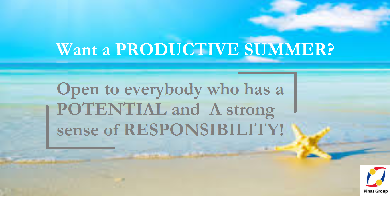 Want a PRODUCTIVE SUMMER?