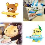 Cute PC character cushions from Japan protect your wrists, keep you company at the same time
