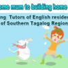Hiring Tutors of English from Southern Tagalog.